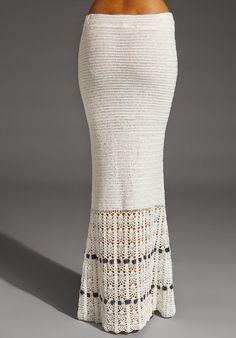 Inspirações para quem curte usar e ou tecer estas belas ideias em saias longas!