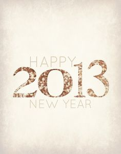 Free  Vintage 2013 New Year's Printable Poster