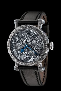 Watchmaker Peter Speake-Marin and three specialist engravers created the Kennin-ji Temple Masters Project, which features ornately engraved dragons inspired by the Kennin-ji Temple in Japan.