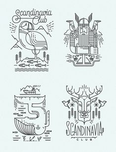 30 Vector Line Art Illustrations with Detailed Patterns & Geometric Shapes Scandinavia Club by Dock 57 Abstract Illustration, Graphic Design Illustration, Art Illustrations, Icon Design, Logo Design, Line Art Flowers, Line Art Vector, Line Art Tattoos, Geometric Lines