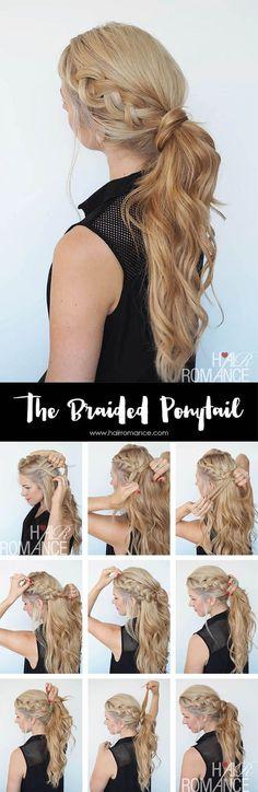 Trenzas y coleta en un mismo peinado. ¿Te animas a reproducirlo? #peinados #trenzas #cabello #pelo #look