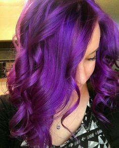 Vibrant purple hair beauty: fantasy unicorn purple violet red cherry pink b Plum Red Hair, Bright Purple Hair, Vibrant Red Hair, Violet Hair Colors, Bright Hair Colors, Hair Color Purple, Colorful Hair, Long Purple Hair, Lavender Colour