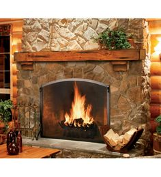 Plow and Hearth knotty pine mantle