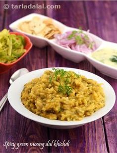 Spicy Green Moong Dal Khichdi recipe | by Tarla Dalal | Tarladalal.com | #39566
