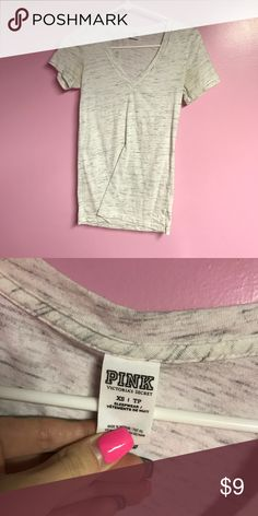 Vs Pink Tee Victoria secret pink tee shirt. Used. Size XS. Price is firm. PINK Victoria's Secret Tops Tees - Short Sleeve
