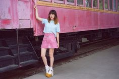 Amy Roiland - Cheyann Benedict Skirt - Train Game