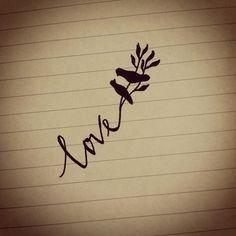 Cute Relationship Ideas Tumblr | love bird tattoos | Tumblr instead of love, use marriage date