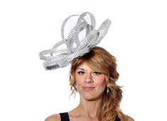 Something for the New Year Silver Diamante Rhinestone Fascinator Hat  by MaighreadStuart, £70.00