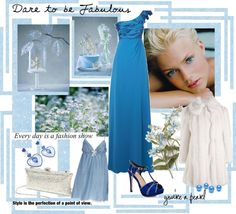 """""""Frosty And Cool ...Blue & White!"""" by dreamer1983 on Polyvore"""