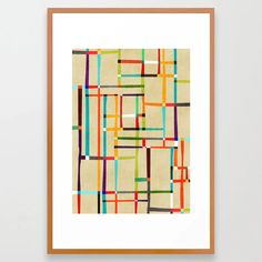 Buy The map (after Mondrian) Framed Art Print by budikwan. Worldwide shipping available at Society6.com. Just one of millions of high quality products available.
