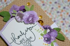 Mothers Day means flowers! @jaclynrench has two adorable cards, perfect for mom's, friends, aunts, and more up on the blog!! #cardmaking #project #floral #inspiration #rhinestone #sequin #kraft