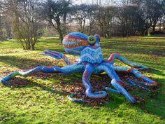 Octopus mosaic by Marialuisa Tadei