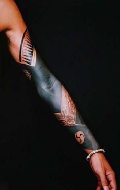 full sleeve - great use of black #tattoo #ink