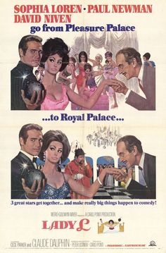 Lady L (1965) Lady L. is an elegant, elderly lady who recalls the past loves and lusty adventures she has lived through. Starring : Sophia Loren, David Niven, Paul Newman Director : Peter Ustinov Runn