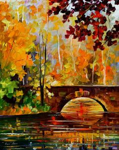 The Link To Autumn - PALETTE KNIFE Oil Painting On Canvas By AfremovArtStudio, $239.00