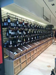 Wine store displays merchandise for easy pickings