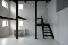 high ceilings allow a loft bed