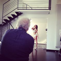 Alessia Ventura during the #shooting of #spring #summer 2014 #collection.