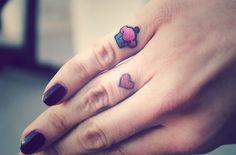 cupcake + heart #ink #tattoo