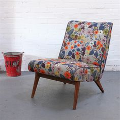Vintage Parker Knoll Chair in Nasturtium - fb mo loves My Furniture, Retro Furniture, Upholstered Furniture, Parker Knoll Chair, Knoll Chairs, Dining Chairs, Mid Century Chair, Mid Century Furniture, Adirondack Chairs For Sale