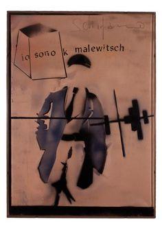 Mario Schifano, Io sono K Malewitsch, 1965-1966  Legami e corrispondenze. Immagini e parole attraverso il '900 romano @ Galleria d'arte moderna di Roma Capitale, 28.02.2013 - 29.09.2013