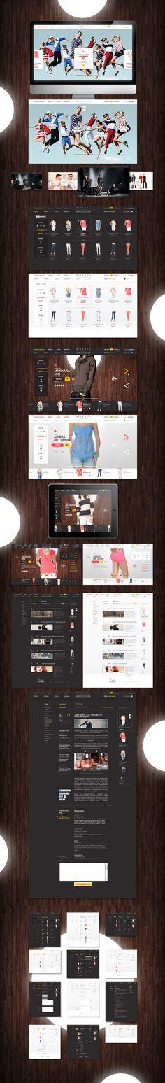 E-shop Viventa store by Sergei Gurov, via Behance