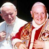 Canonizzazione dei due Papi Papa Giovanni Paolo II e Papa Roncalli santi ad aprile Piazza San Pietro, Roma, Vaticano 27 Aprile 2014 Un milione di fedeli, turisti e pellegrini attesi a Roma per quest'evento mondiale