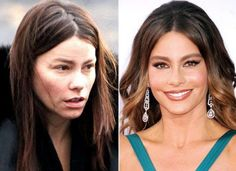 Sofia Vergara   The Power of Makeup: Celebrities Before and After   Unbelievable Makeover Transformation by Makeup Tutorials at http://makeuptutorials.com/23-celebrities-before-and-after-makeup-transformations/