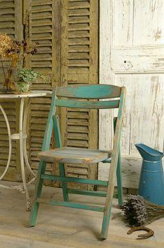 アンティーク ウッドフォールディングチェアー French Vintage Folding Chair
