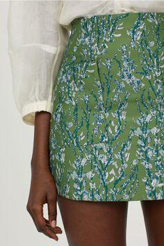 Jacquard-weave skirt - Green/Patterned - Ladies | H&M GB 1