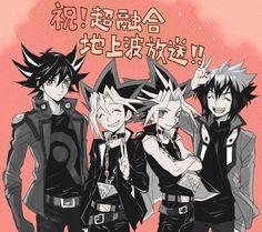 Tags: Anime, Yu-Gi-Oh!, Millennium Puzzle, Yami Yugi, Yu-Gi-Oh 5Ds, Four Males, Yu-Gi-Oh! GX