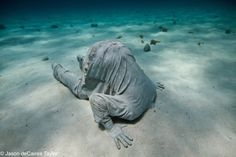 Jason de Caires Taylor - underwater sculptures. check it out.