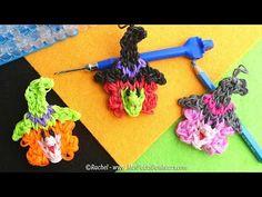 SORCIERE en élastiques Rainbow Loom - Bricolage HALLOWEEN   Witch head. Rainbow loom bands.