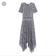 H&M Gray Lace Midi Dress, Never Been Worn! 6