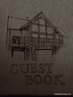 Custom wooden journal or guestbook by hobbyholica on Etsy, $40.00