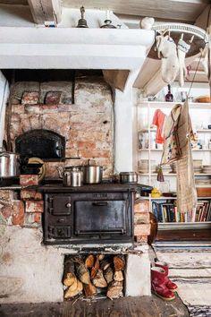 16 потрясающих кухонь с печами – Вдохновение
