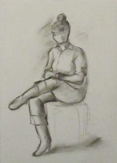 Женщина со скрещенными ногами, зарисовка