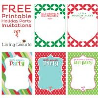 Holiday Party Invitations {Free Printable}