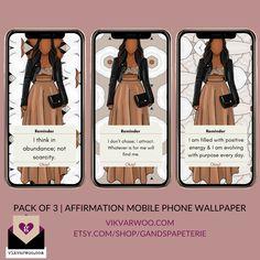 *DIGITAL* Affirmation Phone Wallpaper - Dark