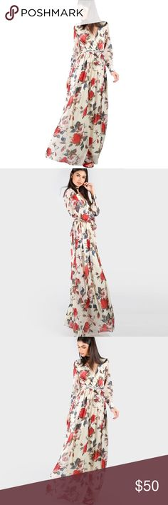 Fall floral dress Fall floral pattern, long sleeve maxi dress! Available now! Dresses Maxi