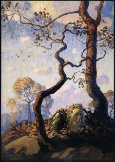 Wyeth illustration for Rip Van Winkle, 1921 Jamie Wyeth, Andrew Wyeth, Art And Illustration, Book Illustrations, Landscape Art, Landscape Paintings, Watercolor Paintings, Images D'art, Nc Wyeth