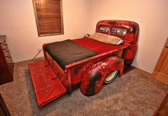 International Harvester Pickup truck custom bed.