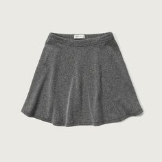 Abercrombie & Fitch Herringbone Skater Skirt ($44) ❤ liked on Polyvore featuring skirts, grey, print skirt, pattern skirt, patterned skater skirt, circle skirt and grey skirt