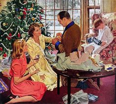 Christmas Art and Prints. We have collected a variety of traditional and whimsical Christmas art for sale. Our Christmas art and prints are reproduced on museum-quality papers and canvas and will last for generations. Christmas Style, 1950s Christmas, Christmas Scenes, Noel Christmas, Vintage Christmas Cards, Christmas Morning, Vintage Holiday, Christmas Pictures, Christmas Humor