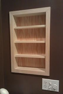 Install A Recessed Shelf Between Wall Studs To Make Use Of Closed Off  Space. So Smart!