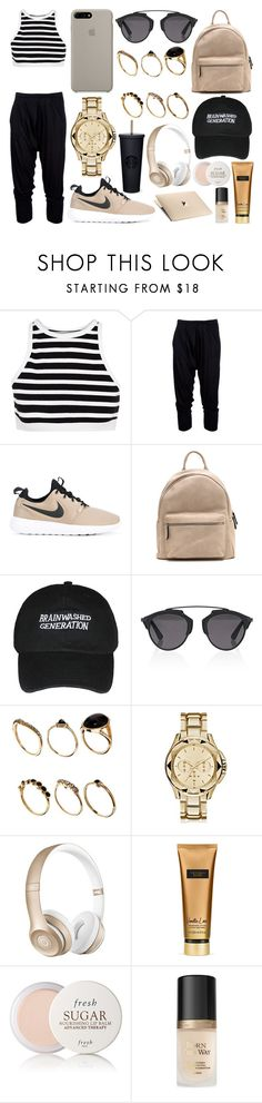 """323."" by plaraa on Polyvore featuring moda, T By Alexander Wang, Helmut Lang, NIKE, Christian Dior, ASOS, Karl Lagerfeld, Beats by Dr. Dre, Victoria's Secret y Fresh"