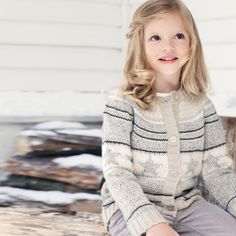 Star Fairisle Cardigan - Natural from The White Company