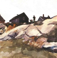 Edward Hopper - Rocks at the Fort Gloucester - 1924