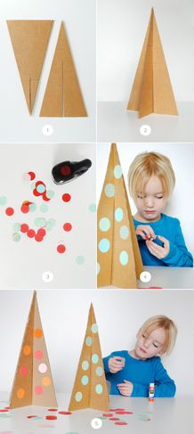 DIY CARDBOARD CHRISTMAS TREES