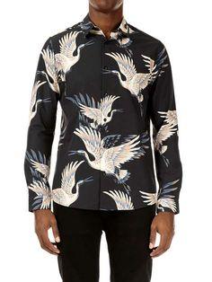 Men Shirt, Aw17, Bird Prints, Fashion Prints, Long Sleeve Shirts, Shirt Designs, Short Sleeves, Inspire, Street Style